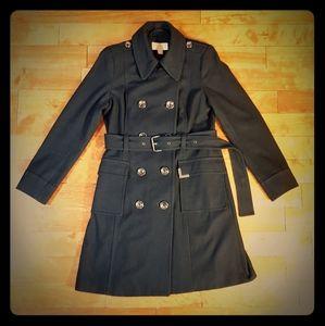 MICHAEL KORS Black Wool Pea Coat